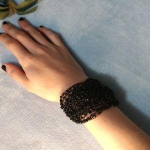 Beaded Loose Black Bracelet